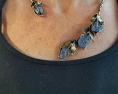 Brass Necklace with Semiprecious Stones