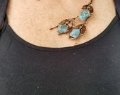 Copper Necklace with Semiprecious Stones