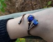 Copper Bracelet with Semiprecious Stones