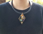 Bouquet of Mixed Stones Necklace from Brazil