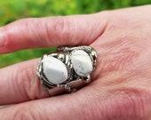 Alpaca Silver Ring with Semiprecious Stones