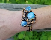 Copper Bracelet with Semiprecious Stone