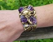 Brass Bracelet with Stones