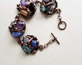 Copper Bracelet with Mixed Stone