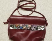 Leather with Semi-Precious Stones in Alpaca Adjustable/Removable Strap