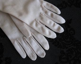 Vintage gloves cream color.