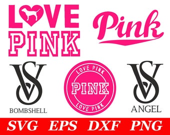972d65d797 Love Pink SVG File Cricut Silhouette Iron On VS Dog Clipart Clip Art  Printable Print Decal Party Decorations Supplies Cutting Cut Cutout