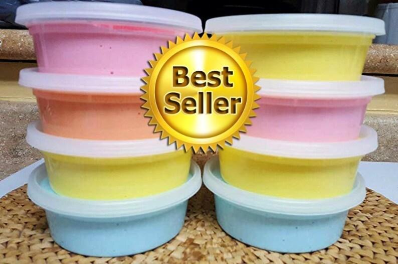 4oz Squishy BUBBLEGUM Cloud Dough Smells Yummy! Soft Moldable Handmade Pink Cloud Slime SCENTED w// LIPS Charm!