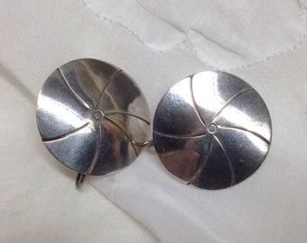 Sterling sand dollar earrings