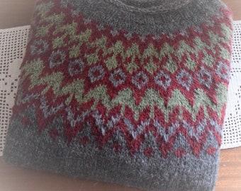 Sweater, icelandic wool, handmade, käsinneulottu paita islantilaisesta villasta