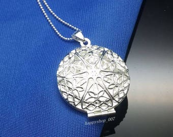 Sterling Silver Round Filigree Locket