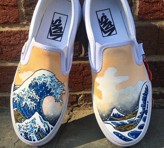 Vans Custom Shoe Design The Great Wave   Sharpie schuhe
