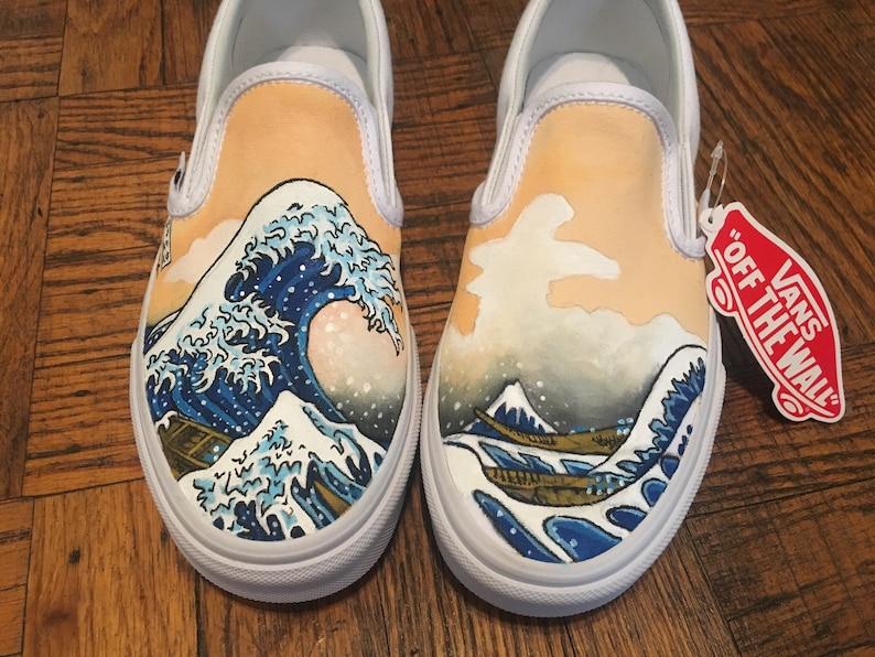 Vans Custom Shoe Design The Great Wave