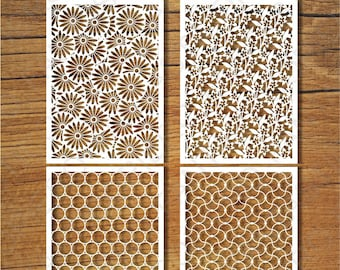 Decorative Backgrounds (2) SVG files for Silhouette Cameo and Cricut. Clipart PNG transparent included.