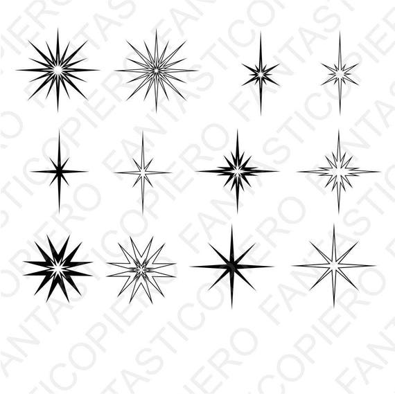 Stars And Sparkles Svg Files For Silhouette Cameo And Cricut Etsy