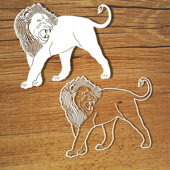 Lions Svg Files For Silhouette Cameo And Cricut Lions Clipart Etsy