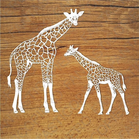 Giraffes Svg Files For Silhouette Cameo And Cricut Giraffes Etsy