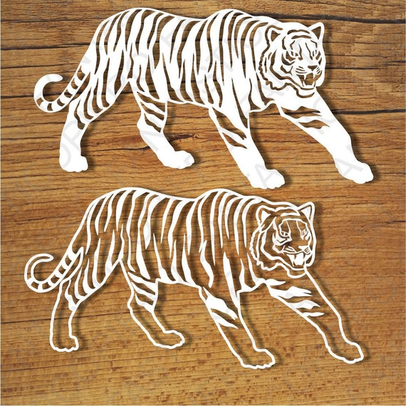 Tigers Svg Files For Silhouette Cameo And Cricut Tigers Etsy