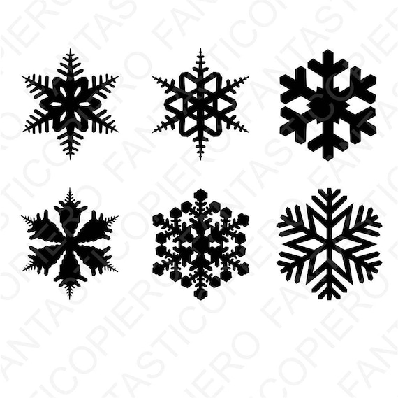 Snowflake Svg Files For Silhouette Cameo And Cricut Snowflake Etsy