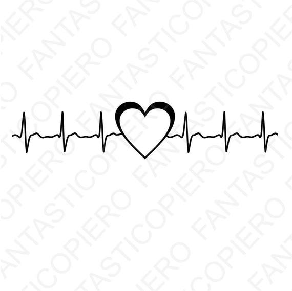 Cardio Heart Svg Files For Silhouette Cameo And Cricut Cardio Etsy