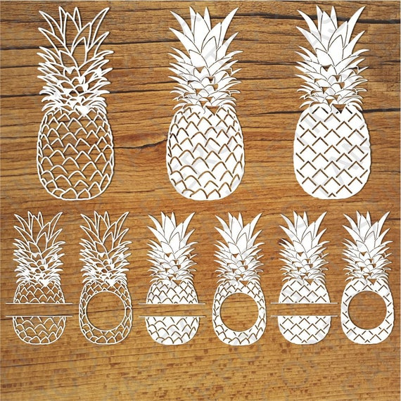 Pineapples Svg Files For Silhouette Cameo And Cricut Etsy