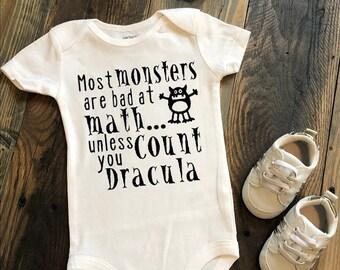 Funny Baby Onesie Dracula Onesies Mister Fantastic Onesies Cute Halloween Shirt Cute Baby Onesies Halloween Onesie Mister Fang-Tastic