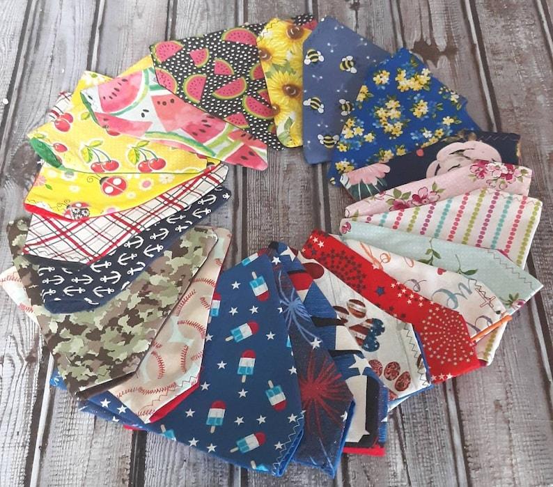 custom pet bandana Red over the collar dog bandana peronsalized dog bandana