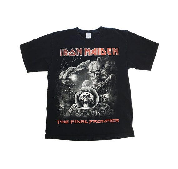Iron Maiden The Final Frontier Tshirt / Vintage / Faded Heavy Weight Cotton/ Size Large/ Vintage Band Tee