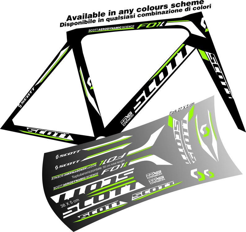 SCOTT Bike Goggles 4 STICKERS Decals Bicycle