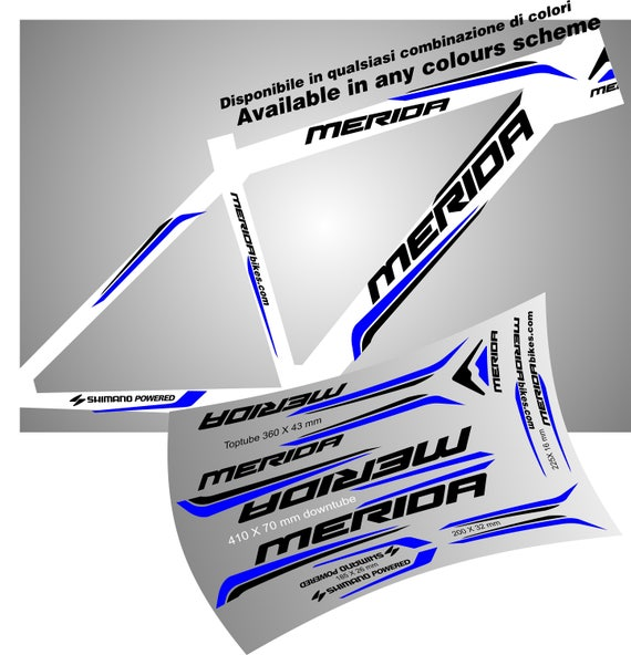 Merida Mtb Stickers Decal Graphic Aufkleber Autocollant Pegatinas Frame Bike
