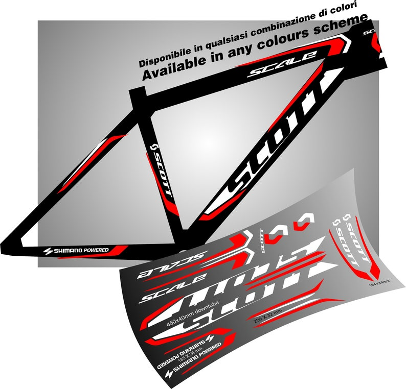Commencal Vinyl Decal Stickers Sheet Bike Frame Cycle Cycling Bicycle Mtb Road