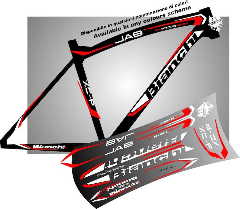 Bianchi Bike Frame Graphic Decals Stickers Aufkleber Autocollant Pegatinas Mtb