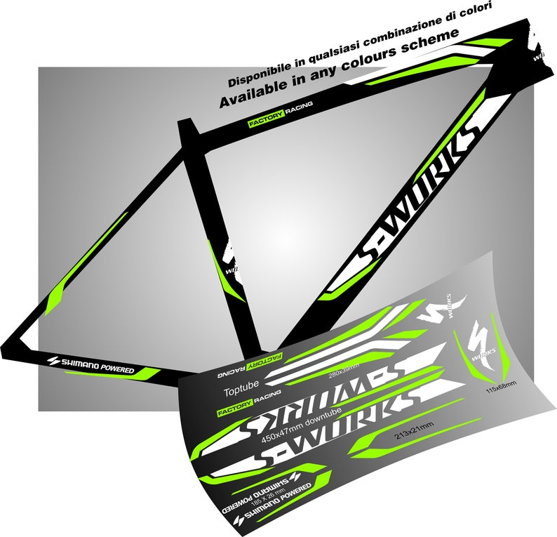 Specialized Bike Frame Grafic Stickers Decals Aufkleber Autocollant Pegatinas Velo