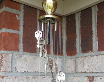 Handmade Door Knob and Key Wind Chime