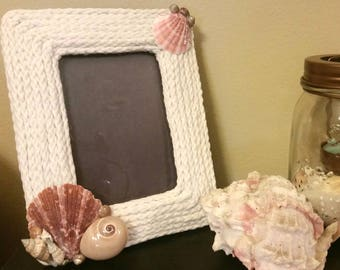 Seashell & Rope Picture Frame