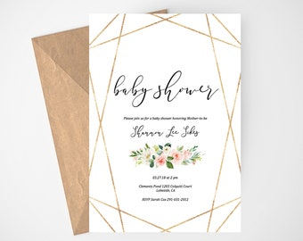 Whimsical invitation Etsy