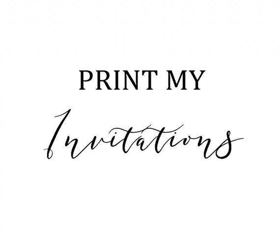 invitation printing service print my invitations printed etsy