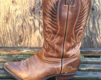 30d3fbb9c5f Botte de Cowboy Boulet ~ taille 10 ~ Western ~ Roper ~ équitation ~ cuir