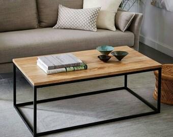 Industrial, table, coffee table, living room, ash wood, modern, night table, loft furniture, wood
