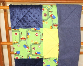 Oh the Places You'll Go Baby Quilt Blanket