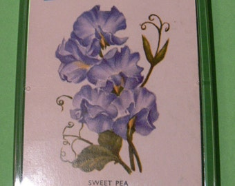 A Magent Made From A Vintage Playing Card. Sweet Pea