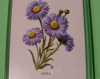 A Magnet Made From A Vintage Playing Card. Aster