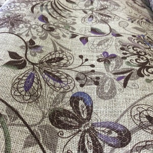 Natural Linen Fabric By The Yard Organic Linen Fabric Eco friendly 100/% Pure linen for Craft Flax Linen with floral print