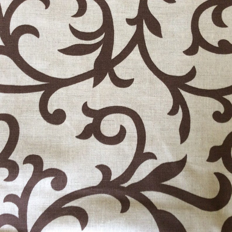 Natural Linen Fabric By The Meter Natural fabric with print