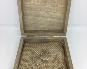 Items Similar To Engagement Ring Box With A Moss Ring Pillow