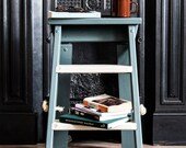 Studio Step. Step Ladder. Handmade Step Ladder. Hand painted Step Ladder. Display Stand. Plant Stand. Side Table