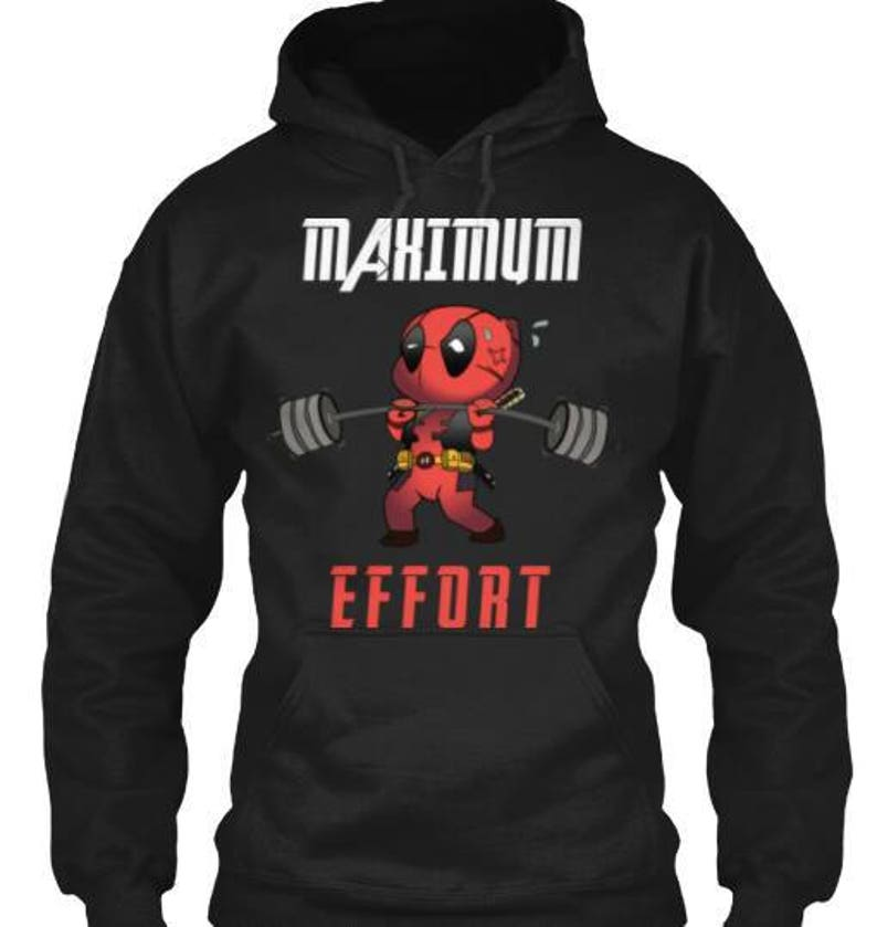 9319b98e946fe9 Maximum Effort Deadpool inspired top funny novelty gift