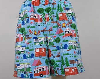 Happy Camper Camping Womens Soft Underpants Trimmed Shorts Shorts