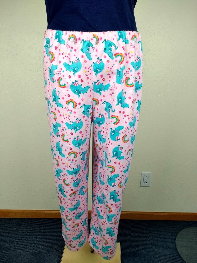 c0dd3264a5f1 Dragons and rainbow pajamas flannel pj sleep dorm pants
