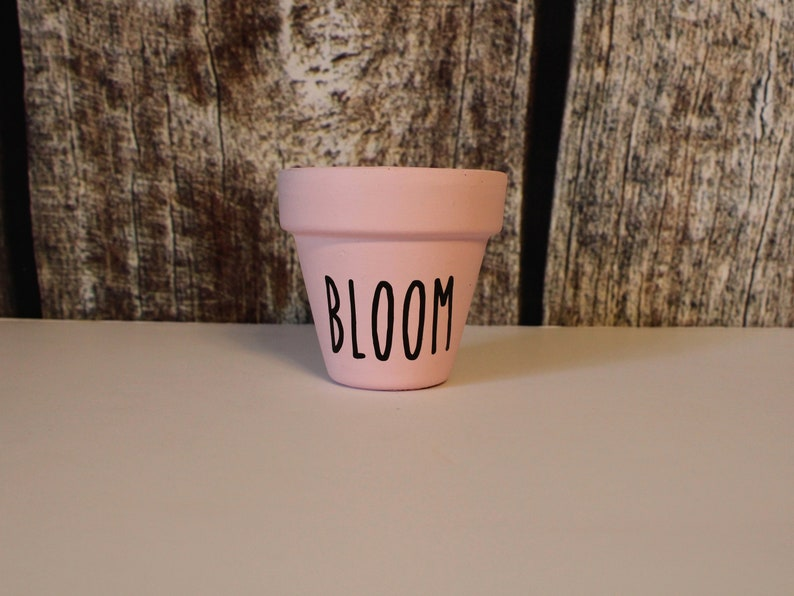 Herb Flower Pots Hand Painted Flower Pots Cute Custom Flower Pots Small Flower Pots Home D\u00e9cor Flower Pots Flower Pots